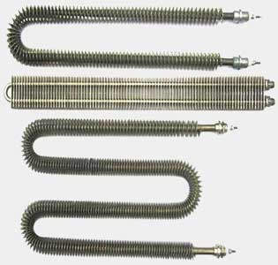 finned tubular heater elements